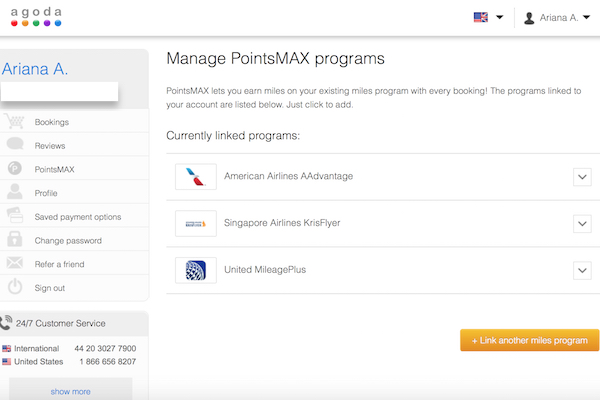 Earn miles via PointsMAX