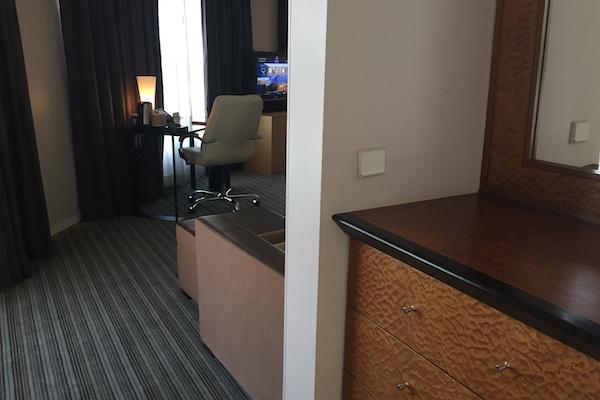 Hyatt Regency Charles de Gaulle Club Deluxe Suite Storage