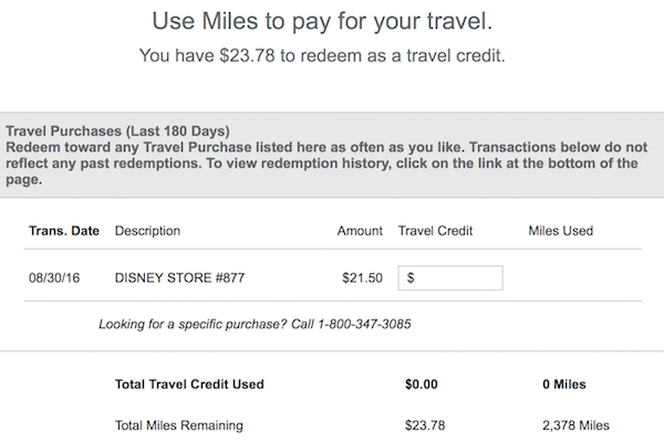 Discover classifies The Disney Store as a travel merchant