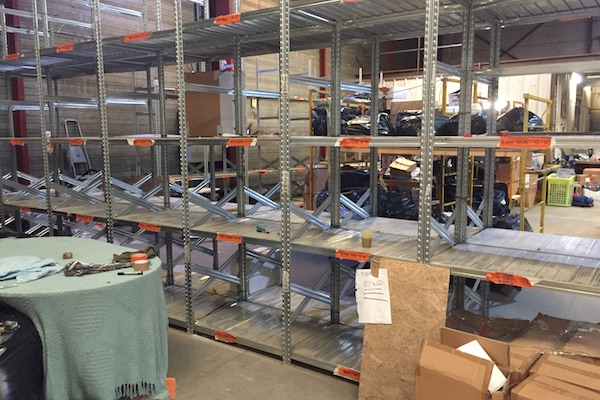 Inside the Help Refugees Warehouse in Calais