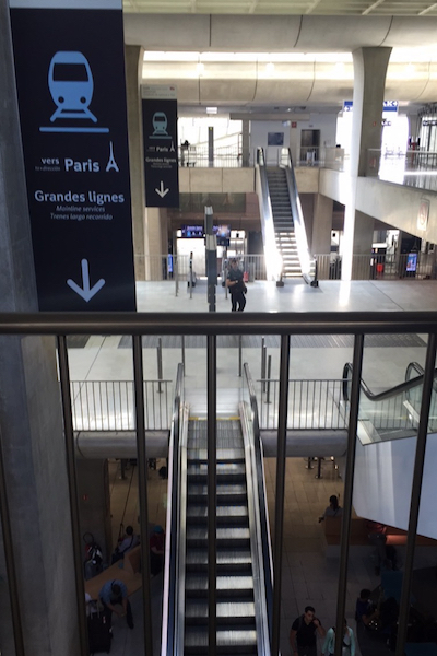 Security at TGV Train Station Charles de Gaulle Airport
