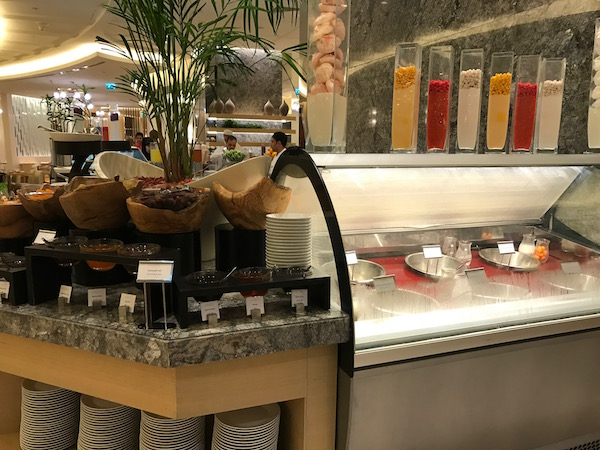 Conrad Makkah Al Mearaj Restaurant Breakfast Buffet Milk Selection