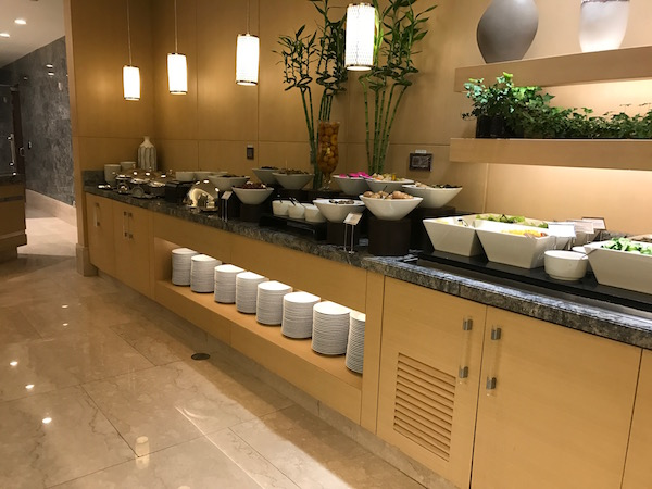 Review Conrad Makkah Al Mearaj Restaurant Breakfast Buffet Salad Bar