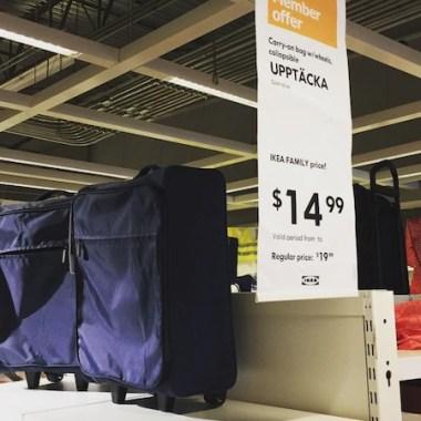 IKEA UPPTÄCKA collapsable carry-on bag