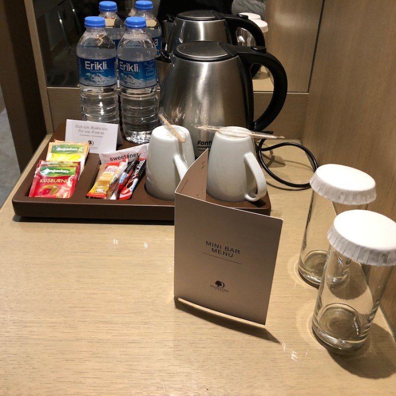 Doubletree Istanbul Sirkeci Review tea and coffee