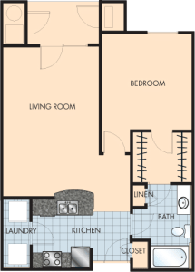 1 Bed / 1 Bath / 869 sq ft / Rent: $1,300