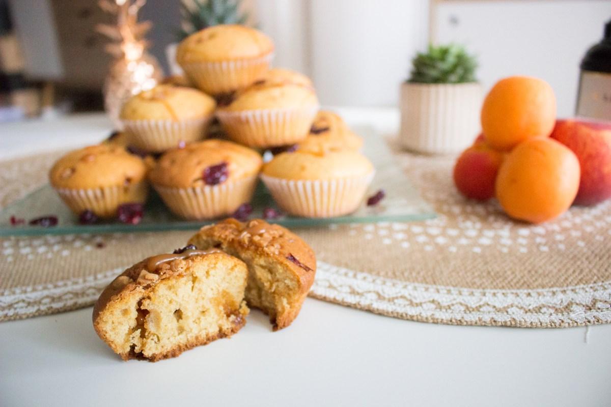 Recette Muffins vanille-caramel & cranberry
