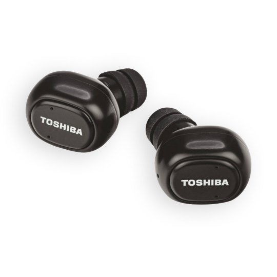 Toshiba Wireless Bluetooth Black Earbuds