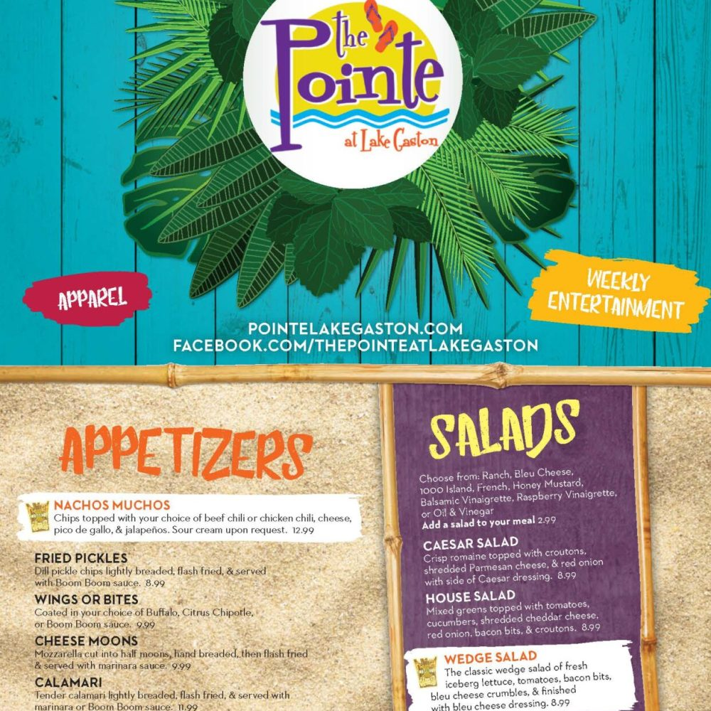Our New 2017 Menu has Arrived!