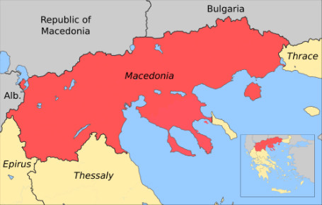 Greek Macedonia map