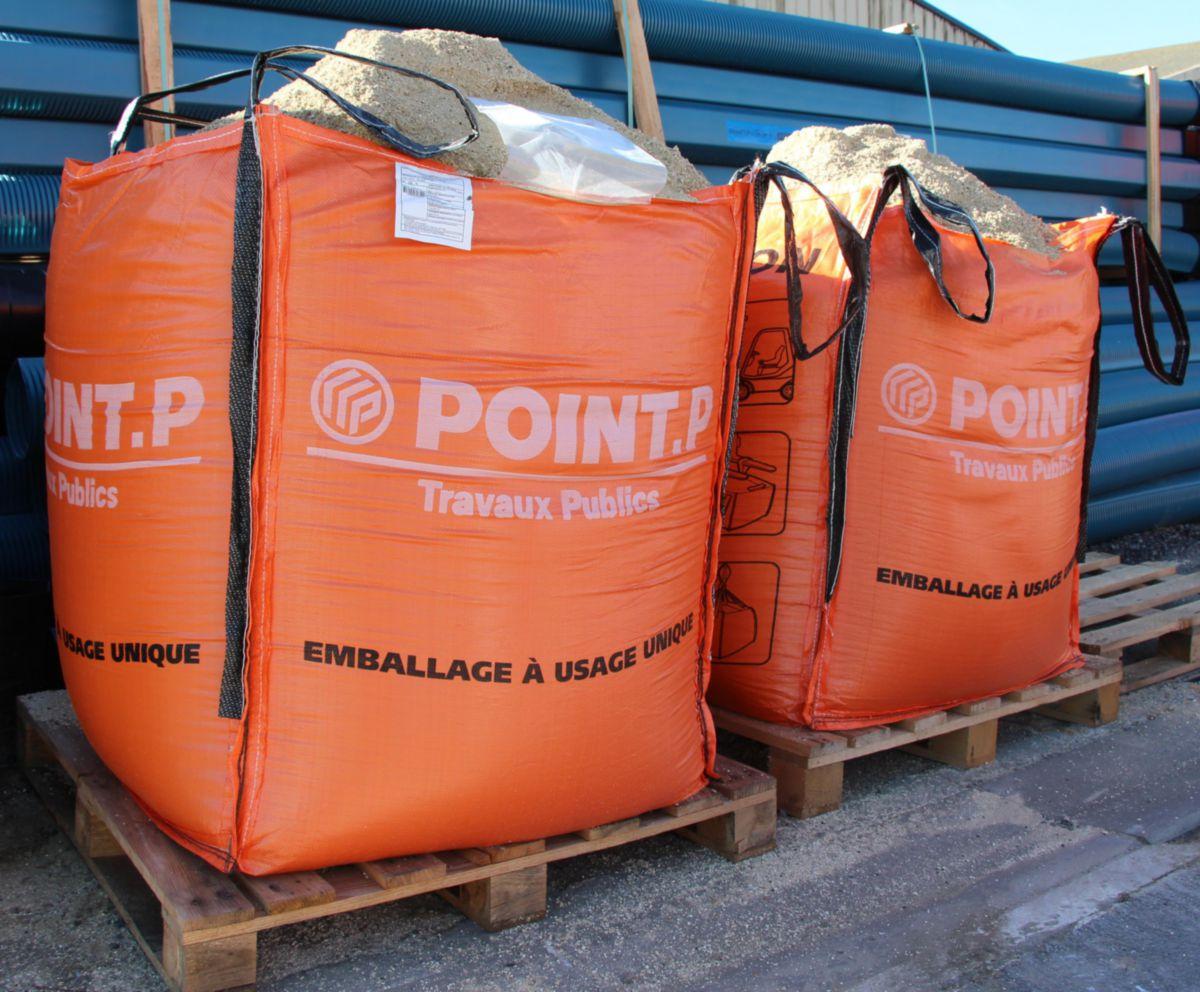 Ultibat Bigbag Toile Orange 4 Faces Vide Vol Max 790 L 3 4 M Charge Utile Max 1500 Kg Point P