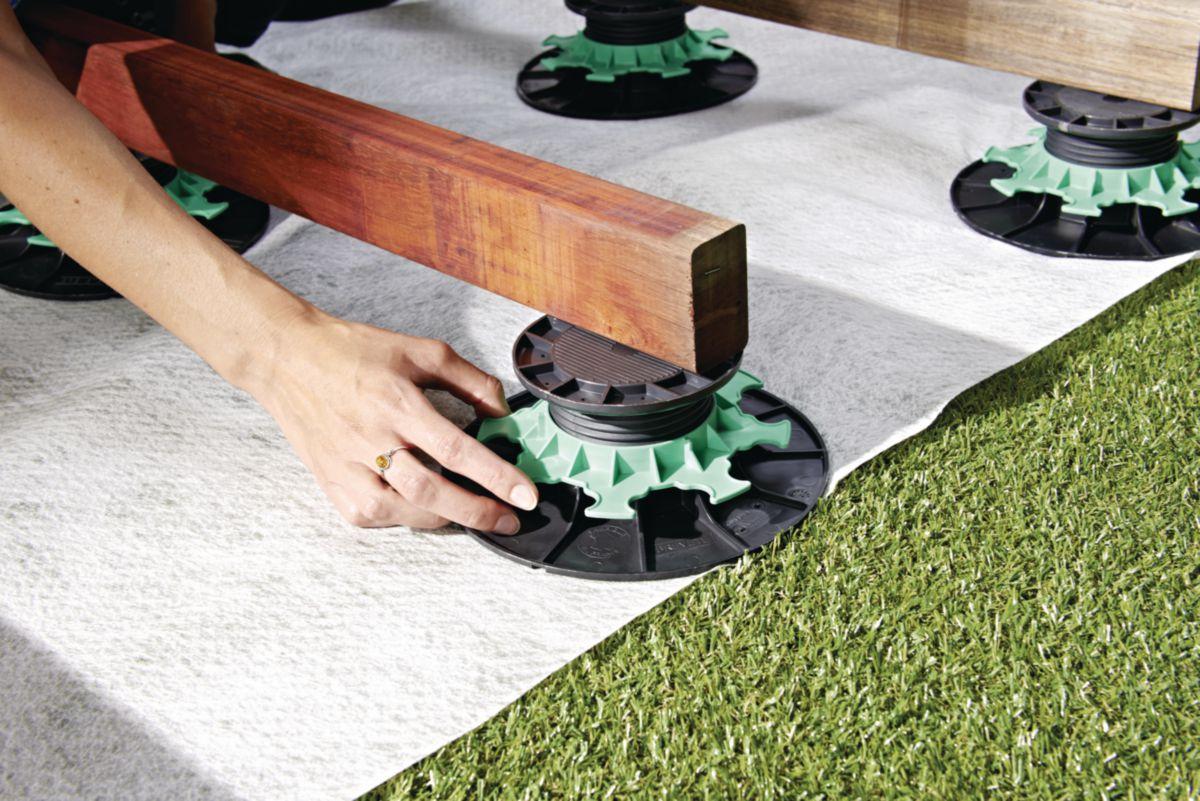 Jouplast Plot Reglable Pour Lambourde De Terrasse Polypropylene H 20 30 Mm Point P