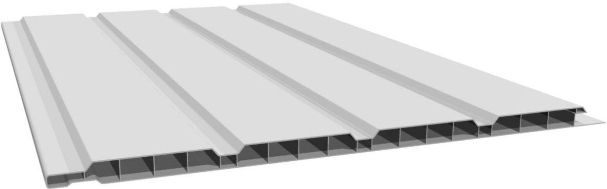 Freefoam Plastics Lambris Alveolaire 4 Frises Pvc Blanc L 4 M 250x10 Mm Point P