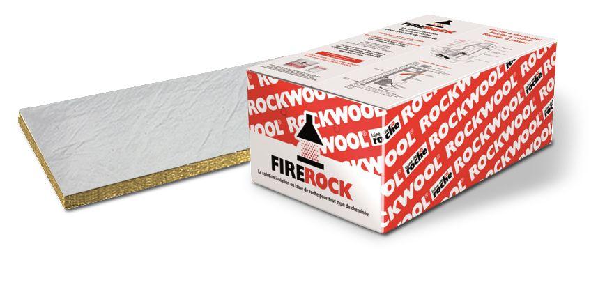 Rockwool Laine De Roche Revetue Alu Firerock Ep 40 Mm 1x0 6 M Point P