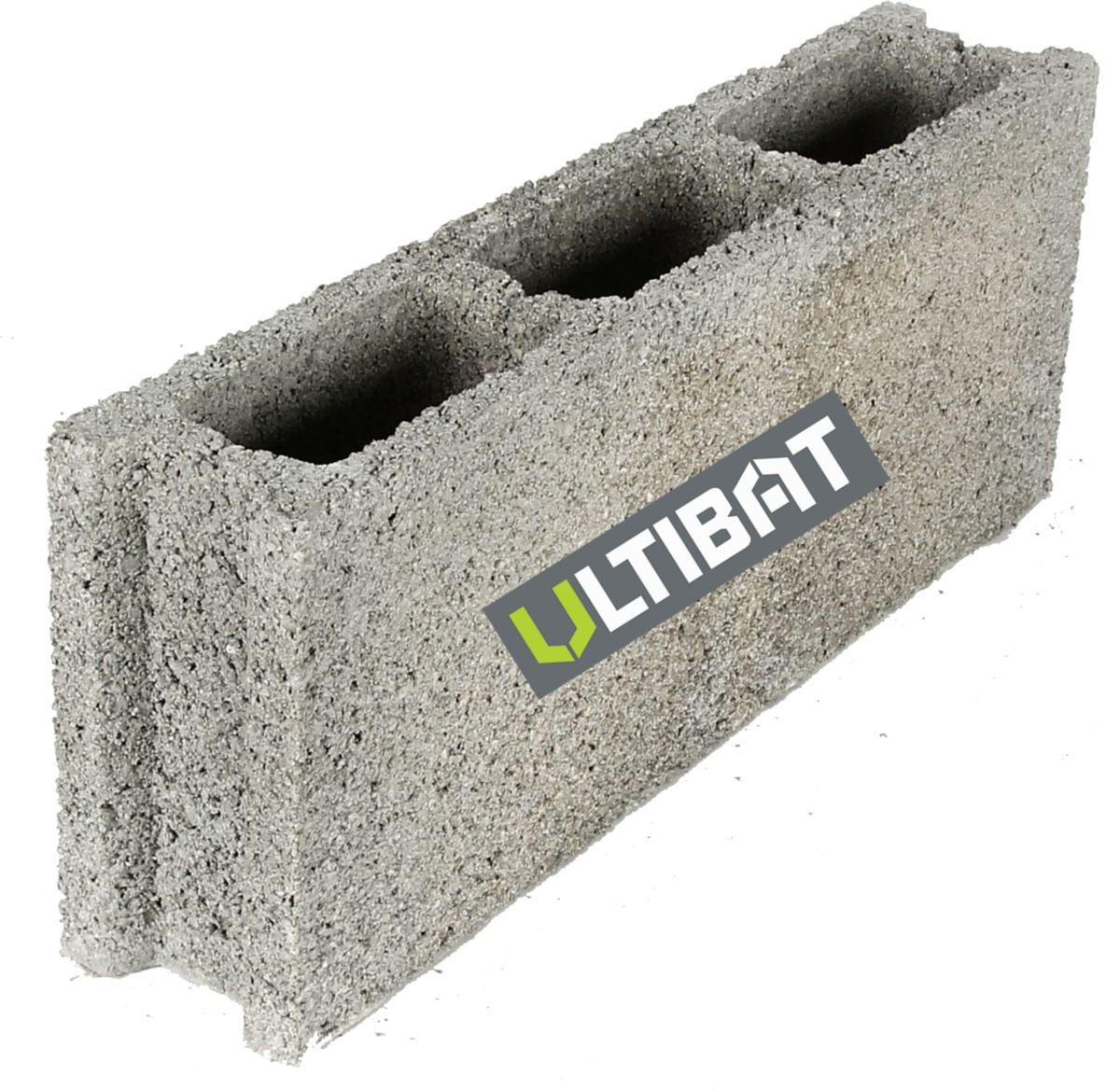 Ultibat Bloc Beton Creux B40 500x100x200 Mm Point P
