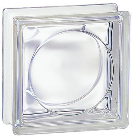 brique de verre 198 transparente ronde