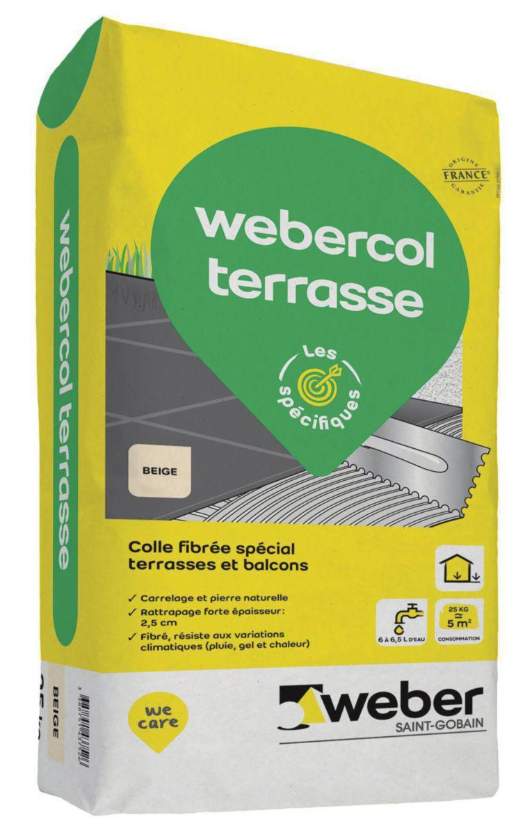 Weber Colle A Carrelage Webercol Terrasse Beige Sac De 25 Kg Point P
