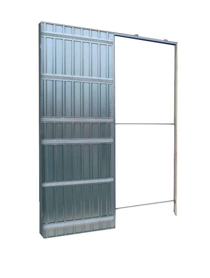 Scrigno Chassis Doortech Spl Pour Porte Coulissante Kit Finition Koto Vide Interne 54 Mm Plaque De Platre 70x203 Cm Point P