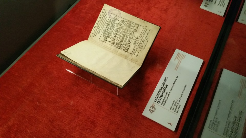 Some of the original documents on display during the exhibition