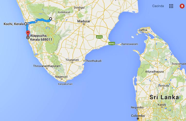 Kerala India Map
