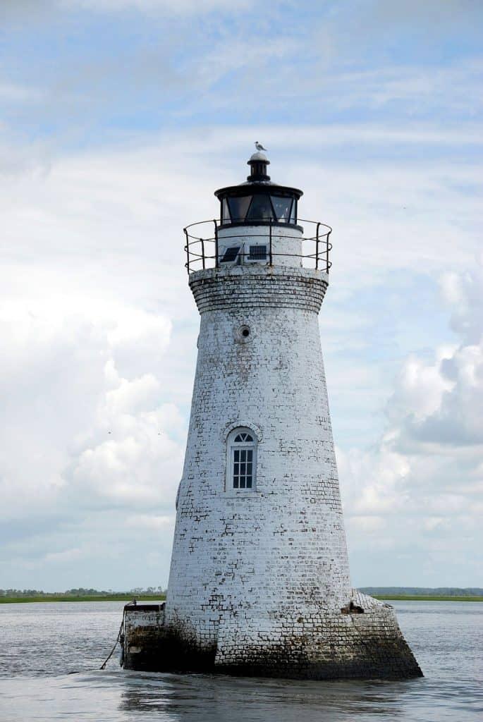 Cockspur Lighthouse, Savannah, Georgia, Things to do in Savannah GA, tybee island, georgia