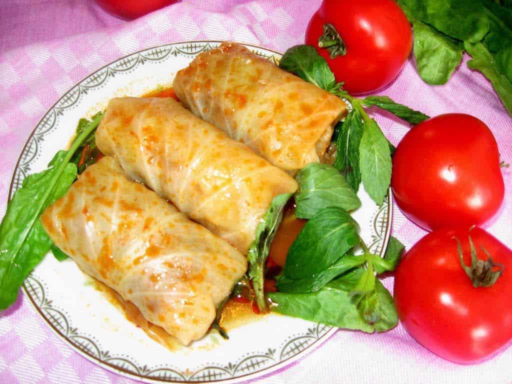 Greek Cabbage Rolls, Greek food, Greek food list, Greek Mediterranean food