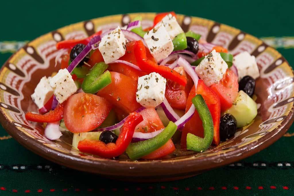 greek salad with Feta Cheese, Greek food, Greek food list, Greek Mediterranean food