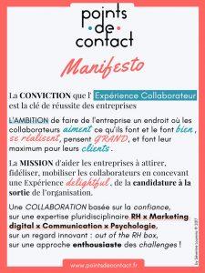 Points de Contact - Manifesto de l'agence