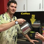 hawaiian shirts, coffee, and interns