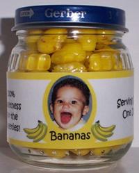 Gerber baby food jar, banana flavor