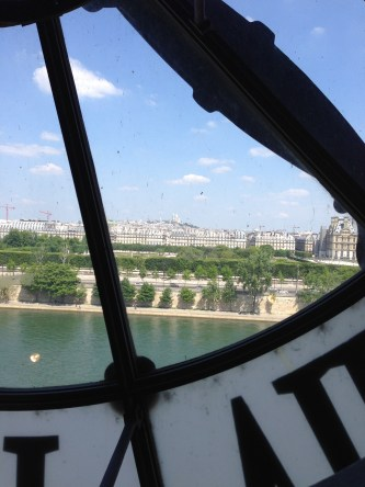 View through the clock