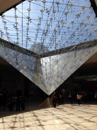 The upside down pyramid louvre