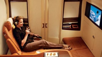 Mine (or Jaime's) seat to Frankfurt for our honeymoon!