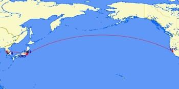 JAL flight route