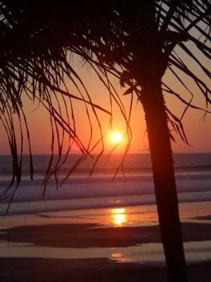 Acapulco sunset beach