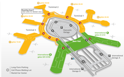 SFO Terminal map