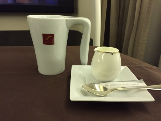 jal japan airlines first class f coffee