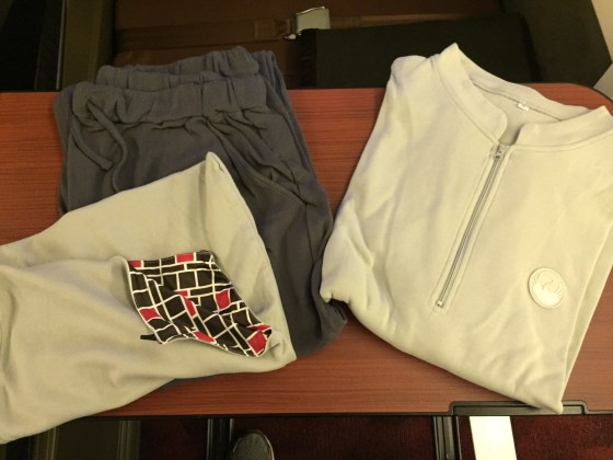 Japan airlines first class f JAL Pajama's