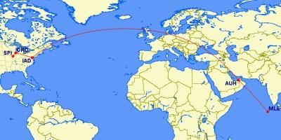 flight to abu dhabi maldives dc