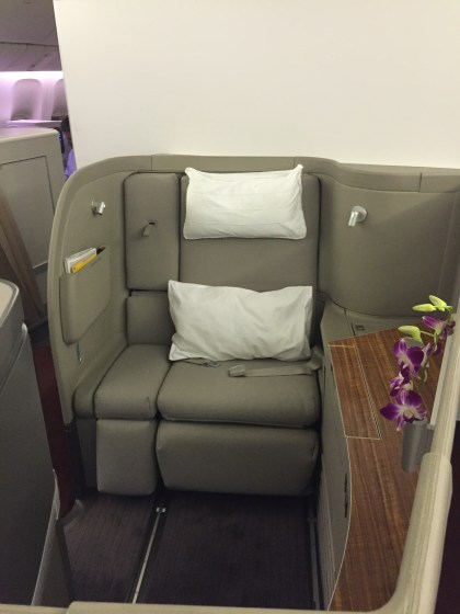 Cathay Pacific First Class HKG-JFK