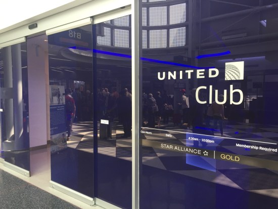 united club chicago ord lounge business first class concourse b