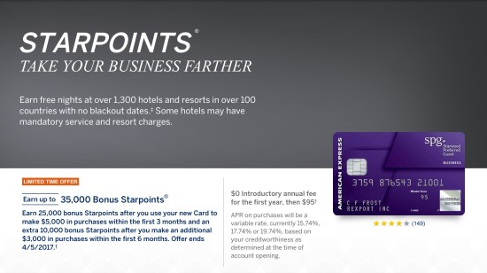 chase marriott credit card american express SPG starwood points use bonus