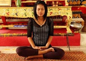 be still. meditate. breathe