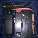 Additional 100AH battery in the passenger seat pedestal, next to the Espar heater