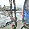 Vertical Ski (or snowboard) Carrying Hitch Rack