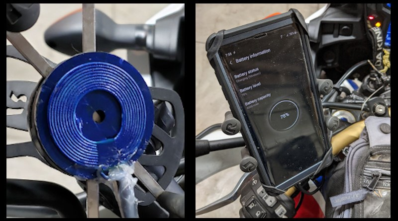 Wireless Phone Charging Motorcycle Mount | Points Unknown