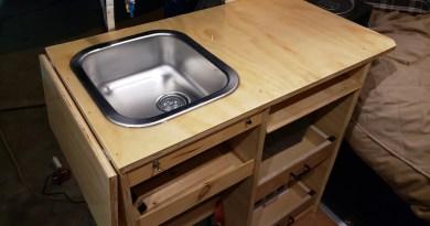 Points Unknown - Simple Sprinter Camper Van Modular Kitchen Setup