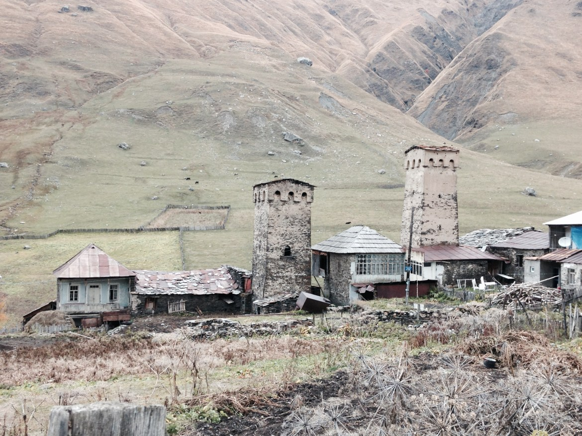 Ushguli is a 12th century UNESCO World heritage site located at 2,200 metres in the Caucasus.