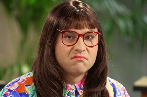 David Williams as Carol Beer of Sunsearchers on Little Britain