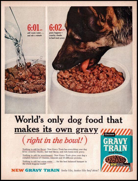 old gravy train ad